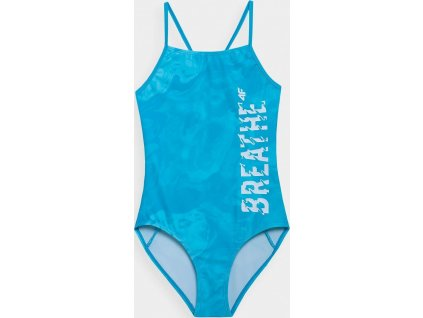 Strój kąpielowy dziewczęcy 4F JKOS002 niebieski