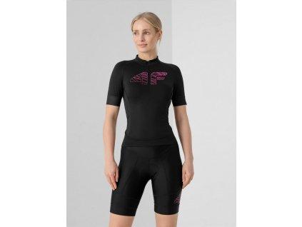 Damska koszulka rowerowa 4F RKD001 czarna
