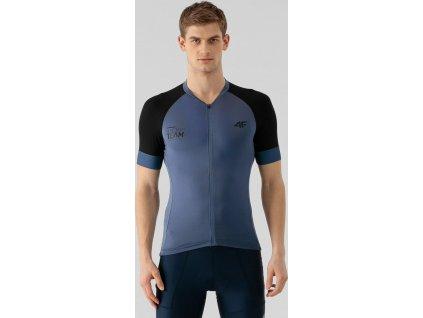 Koszulka kolarska męska 4F RKM002 niebieska