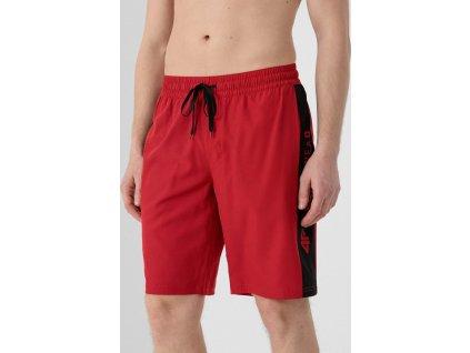 Szorty kąpielowe męskie 4F SKMT005 czerwone