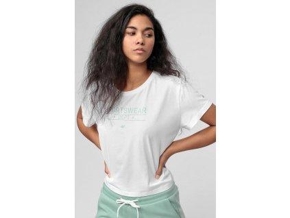 T-shirt damski 4F TSD013 Biały
