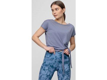 T-shirt damski 4F TSD023 niebieski denim