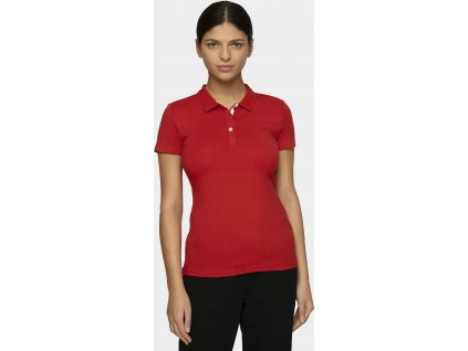 Damska koszulka polo 4F TSD008 czerwona