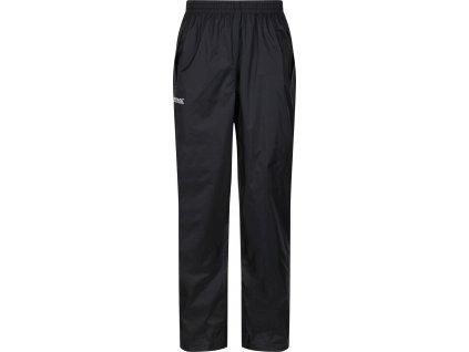 Męskie spodnie outdoor Regaty RMW149 Pack It Overtrousers Czarne