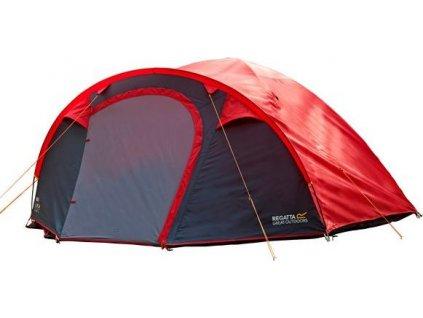 Czerwony namiot Regatta RCE165 Kivu 4 dla czterech osób