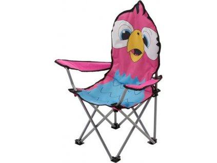 Przenośne krzesło campingowe dziecięce Regatta RCE076 różowy