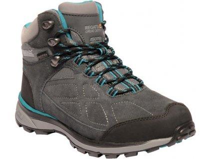 Damskie zamszowe buty trekkingowe Regatta RWF575 Samaris Szaro-niebieskie