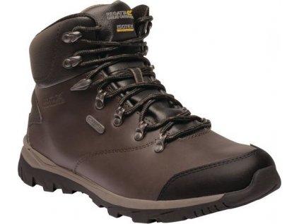 Męskie skórzane buty trekkingowe do kostki RMF541 REGATTA Kota Leather Mid Brązowe