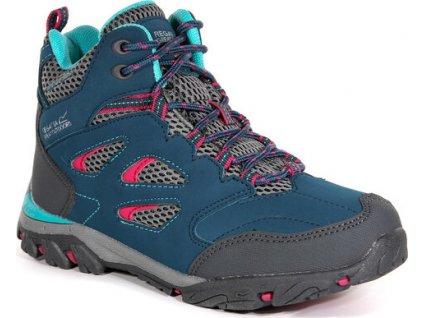 Dziecięce buty trekkingowe RKF573 REGATTA  Holcombe IEP Jnr Błękitne