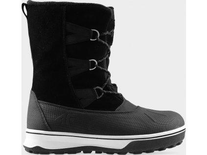 Śniegowce damskie 4F OBDH202 Czarne