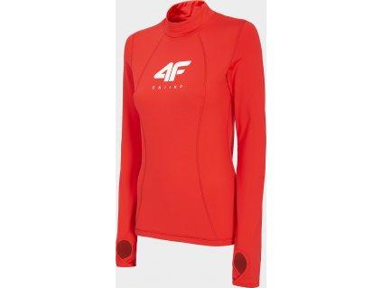 Damska bluza termiczna 4F BIDD252 Czerwona