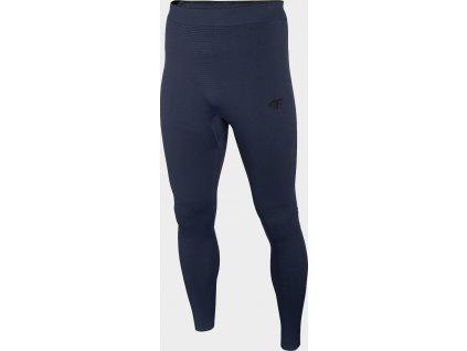 Męskie spodnie termiczne 4F BIMB301D Granatowe