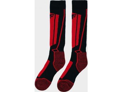 Skarpetki narciarskie chłopiece JSOMN400 Czerwone/czarne