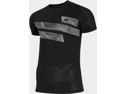 Koszułka męska sportowa 4F TSMF271 Czarna