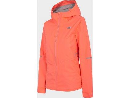 Damska kurtka outdoorowa 4F KUD300 Różowy neon
