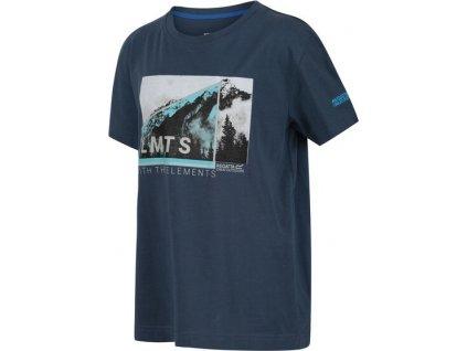 Koszułka dziecięca REGATTA RKT106 Bosley III Niebiesko-szara