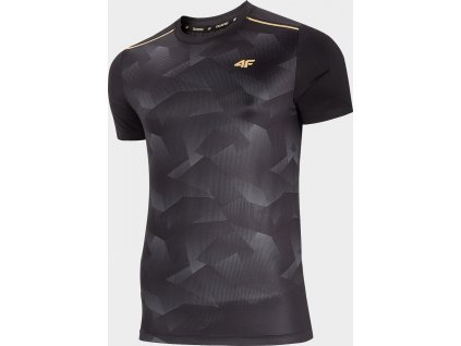 Koszułka męska sportowa 4F TSMF204R Grafitowa