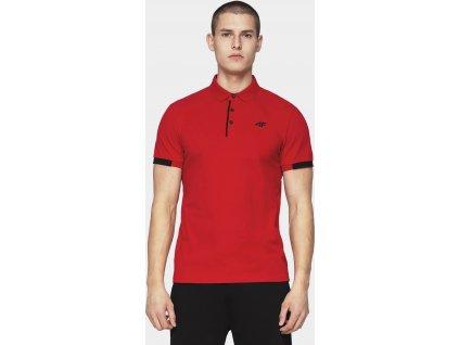 Koszułka męska polo 4F TSM312 czerwona