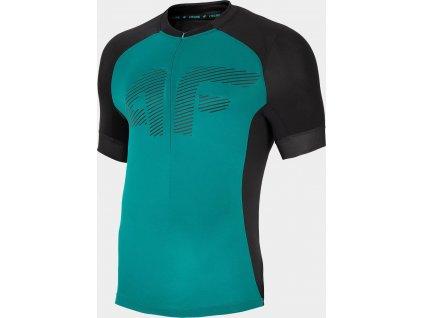 Męska koszulka rowerowa 4F RKM450 zielona