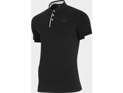 Męska koszulka polo 4F TSM312 Czarna