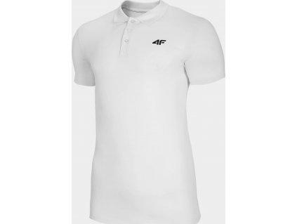 Męska koszulka polo 4F TSM310 Biała