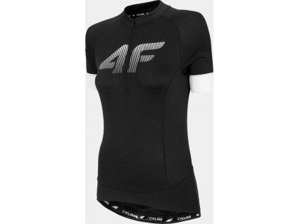Damska koszulka kolarska 4F RKD450 czarna