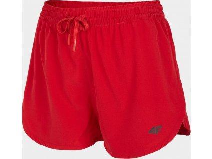 Szorty plażowe damskie 4F SKDT004 Czerwone