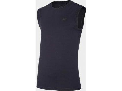 Koszulka męska bez rękawów 4F TSM306 Niebieski