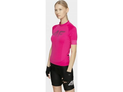 Koszulka kolarska damska 4F RKD450 różowa