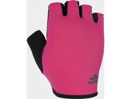 Rękawiczki rowerowe 4F RRU300 Różowe