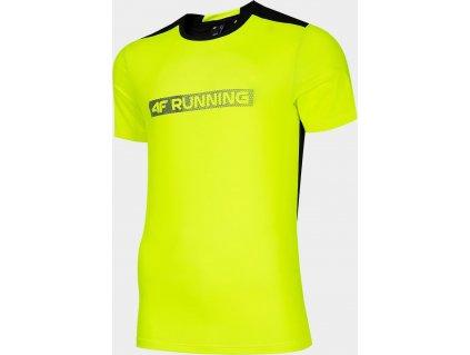 Męska koszulka funkcyjna 4F TSMF017 Zielony neon