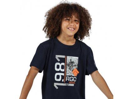 Dziecięca Koszulka Regatta RKT106 Bosley III Ciemnoniebieski
