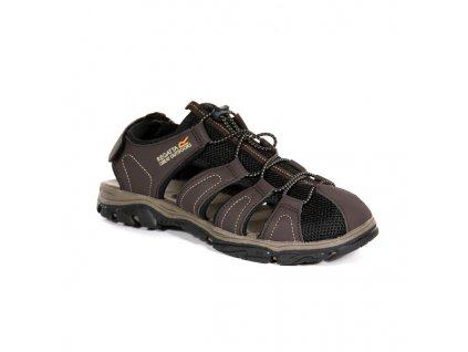 Pánské sandály Regatta RMF600 Westshore II Hnědé