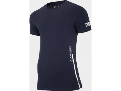 Męska koszulka 4F TSM015 Ciemnoniebieski
