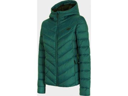 Dámská péřová bunda 4F KUDP301 Zelená
