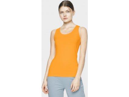 Top damski 4F TSD306 pomarańczowy