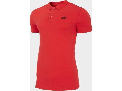 Męska koszulka polo 4F TSM310 Czerwona