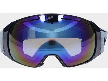 Damskie gogle narciarskie 4F GGD252 jasnoniebieskie