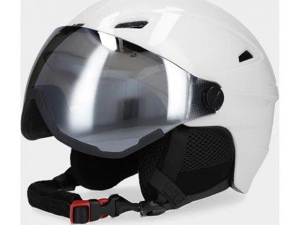 Damski kask narciarski 4F KSD151 biały