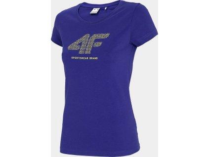 Damska koszulka 4F TSD011 niebieski