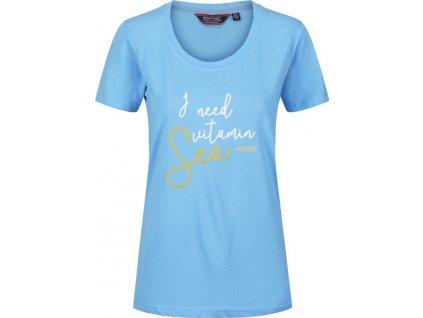 Koszulka damska Regatta RWT190 Filandra IV 7U5 niebieska