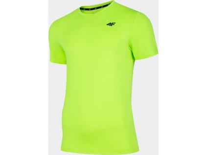 Męska koszulka funkcyjna 4F TSMF002 Zielony neon