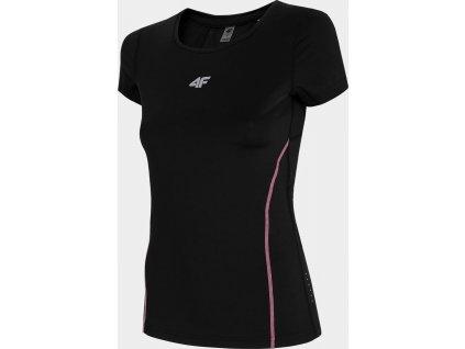 Koszulka do biegania damska 4F TSDF011 czarna