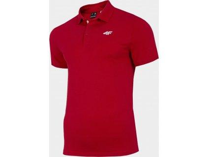Męska koszulka polo 4F TSM007 czerwona