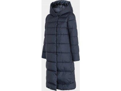 Płaszcz damski puchowy 4F KUDP202 ciemnoniebieski