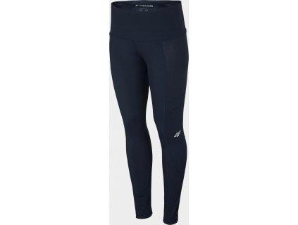 Damskie spodnie outdoorowe 4F SPDTR060 ciemnoniebieskie