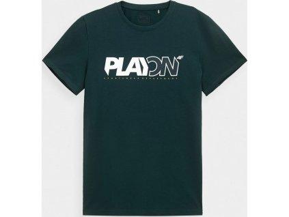 Męska koszulka 4F TSM013 ciemnozielone