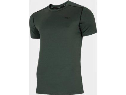 Męska koszulka funkcyjna 4F TSMF013 Khaki