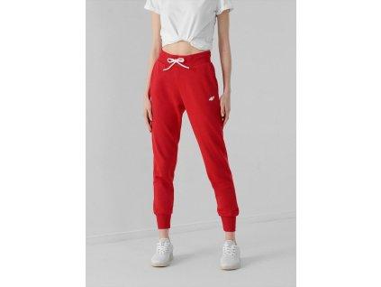 Spodnie dresowe damskie 4F SPDD002 czerwone
