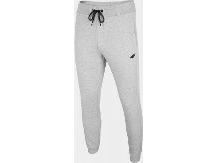 Męskie spodnie dresowe 4F SPMD001 jasnoszare